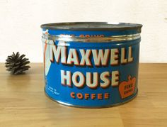 Maxwell House Coffee Key Wind Fine Grind by RedRavenCollectibles