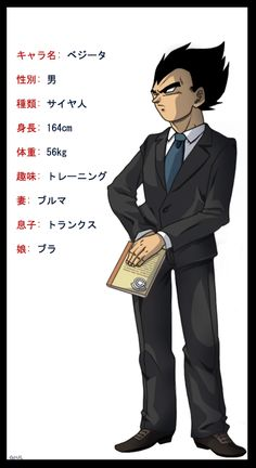 Vegeta.  In a suit.  You're welcome.