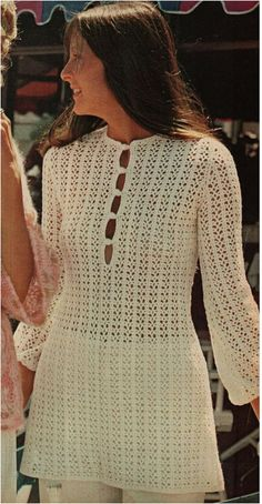 CROCHET DRESS PATTERN Vintage 70s Crochet Tunic by Liloumariposa $3.2