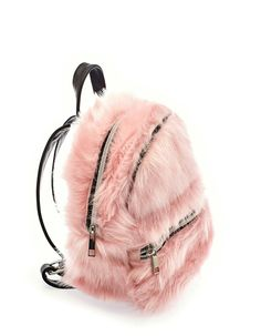 Fluffy pink backpack