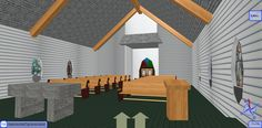 Inside the Old Church at Snow Island in 3D Browsing at WalkTheWeb.com