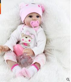 <b>55cm</b> Soft <b>Body Silicone Reborn</b> Baby Doll Toy For Girls NewBorn ...