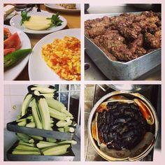 instanbulEatsTour: Beyoglu: started w working class Lokanta bfast of menemen (sc eggs w tomato/pepper), local cheeses, simit