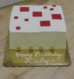 Minecraft Birthday Cake.....this is what a  cake looks like in minecraft