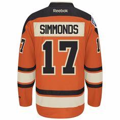 5eb5d4240 ... 2012 Wayne Simmonds Philadelphia Flyers Orange Winter Classic Premier Jersey  Men Philadelphia Flyers 17 ...