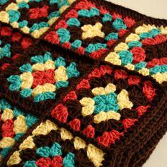 Crochet Blanket Bohemian Granny Square