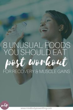 There's more to post workout nutrition than protein. These best post workout recovery foods can help enhance muscle growth and aid in the repairing process Post Workout Nutrition, Nutrition Classes, Nutrition Tracker, Best Post Workout, Post Workout Food, Recovery Food, Muscle Recovery, Workout Soreness, Muscle Soreness