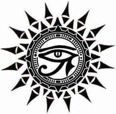 unique Tattoo Trends - ☥Δ Ojo de Horus y Sol Δ☥ Sun Tattoos, Body Art Tattoos, Sleeve Tattoos, Taino Tattoos, Tatoos, Egyptian Symbols, Egyptian Art, Rundes Tattoo, Unique Tattoos