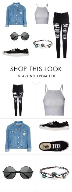 """#100"" by eglad ❤ liked on Polyvore featuring Glamorous, Topshop and Vans"