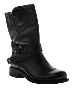 Look at this Black Bridgeport Leather Boot on #zulily today!