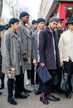 Paris Fashion Week - Menswear Street Style http://www.99wtf.net/category/men/mens-accessories/