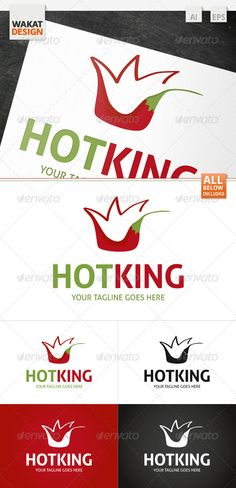 Hot King Logo Design Template Vector #logotype Download it here: http://graphicriver.net/item/hot-king-logo/4122172?s_rank=524?ref=nexion