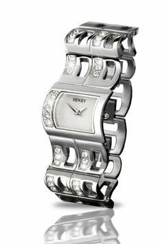 SEKSY Wrist Wear By SEKONDA - 4721.37 - Montre Femme - Quartz - Analogique - Bracelet Acier Inoxydable Argent