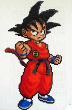 Son Goku Perler Beads (mini) by ainhi90