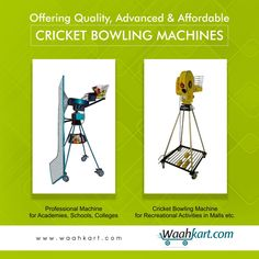 If you're searching for a quality, advanced & affordable cricket bowling machine, you are just a click away. Visit www.waahkart.com and pick your choice. Cricket bowling machines at Waahkart are not just the best in comparison to available in market but, also most economical.  #Waahkart #Sports #CricketBowlingMachine #Affordable #Economical