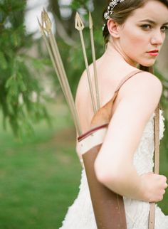 A Hunger Games themed wedding shoot @Ashley Thompson thought you might like this