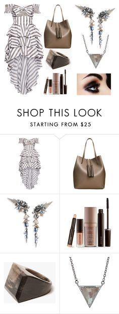 """Untitled #455"" by queenslays ❤ liked on Polyvore featuring Caroline Constas, MANGO, Alexis Bittar, Laura Mercier, Kathleen Whitaker and ADORNIA"