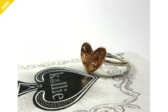 Coin Series - Ring: Old Heart on Sterling Silver Band by Kallie Coins, Band, Sterling Silver, Heart, Accessories, Jewelry, Design, Sash, Jewlery