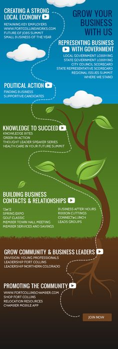 Fort Collins Chamber of Commerce Grow Your Business With Us Infographic
