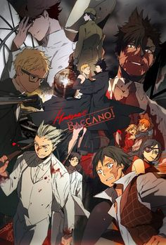 Haikyuu // Baccano >> Omg this is so cool XD tsukki and kuroo are one of my favourite characters in haikyuu and chane and claire are the best in baccano