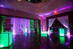 Amazing uplighting, sheers & glow furniture by GrooveEvents.us