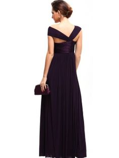 Amazon.com: Ever Pretty Fabulous Pleated Empire Line Long Formal Evening Dress 09464: Clothing