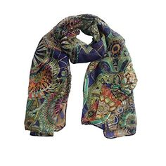 Ammazona Fashion Women Girl Chiffon Printed Silk Long Soft Scarf Shawl Scarf (Navy). Material: Chiffon. Fashion Design, Very Popular. Wonderful gift for you and your friends. New Ladies Neck Stole Elephant Print Long Scarf Shawl Wrap Pashmina. 100% new and high quality.