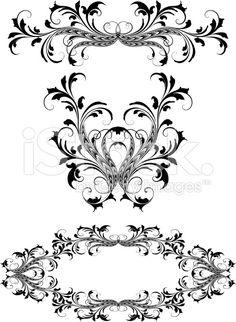 Swirl Delight Symmetry royalty-free stock vector art