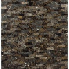 MS International Emperador Splitface 12 in. x 12 in. Brown Marble Mesh-Mounted Mosaic Tile-SMOT-EMP-SFIL10MM at The Home Depot