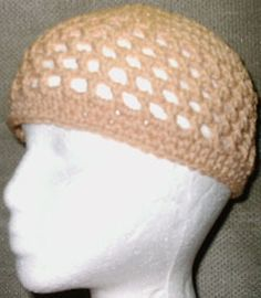 Crocheted Kufi Hat Pattern
