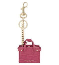 Update your handbag with this stylish keyring from Kurt Geiger. Shaped like Geiger's signature London tote, it's the perfect way to inject a little style into your basics. Preppy Car, Leather Keyring, Couture Accessories, Kurt Geiger, Key Rings, Leather Craft, Keychains, Charms, Miniatures