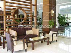 Modern hotel lobby — Stock Photo