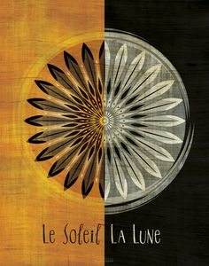 Le Soleil / La Lune The Sun / The Moon Art Print by LuckySkye, $20.00