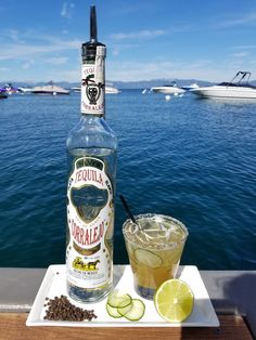 El Pepino - one way to start the party. Ingredients: Corralejo Silver Tequila Lime Black peppercorn syrup Cucumber Salt and pepper rim