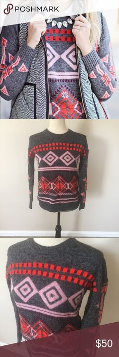 J.CREW NWOT Tribal Sweater XS J Crew Tribal Sweater Size XS in great condition!! J. Crew Sweaters