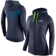 Seattle Seahawks Nike Womens Warpspeed All Time Full-Zip Hoodie – Navy Blue