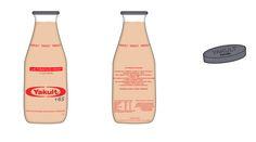 """Mockup-Criação """"Yakult +65""""  1 Litro, tamanho família Illustrator  Trabalho de História e Criação de Embalagens PUC-SP 2016 Caio H."""