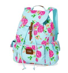 An adorable floral backpack!