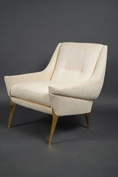 Pair of Armchairs and One Stool by Charles Ramos, France, 1960s 4