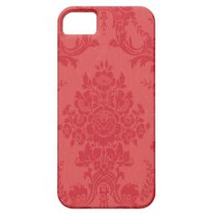 Red damask iPhone 5 cover