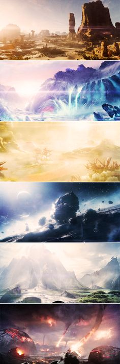 worlds in mass effect andromeda-- I cannot wait to explore the heck out of these places!!
