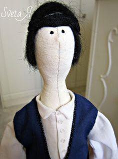 ΥΠΕΡΟΧΕΣ ΔΗΜΙΟΥΡΓΙΕΣ: Критский мальчик. Κούκλα σε κρητική στολή Snowman, Dolls, Outdoor Decor, Blog, Fashion, Baby Dolls, Moda, Fashion Styles, Puppet