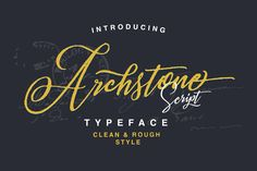 Archstone Script Fonts ¡ï¡ï --- **Queentype Introducing : Archstone Script - 2 Style ** --- ¡ï¡ï -------------- by QueenType Handwritten Script Font, Script Logo, Script Type, Pretty Fonts, Cool Fonts, Beautiful Fonts, Business Brochure, Business Card Logo, Image Overlay