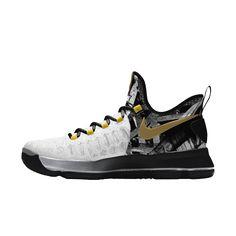 1e87c6a2d2f kd 9 id white gold black Kd Shoes