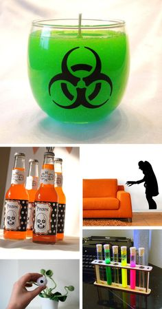 mad scientist theme halloween party?                 -etsy blog/rachel ray