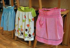 From vintage apron to chair fashion. This is just cute.
