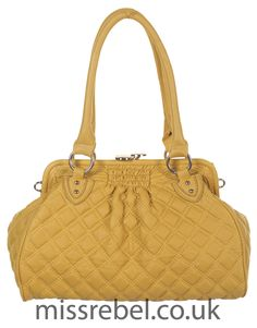Quilted Handbag in Mustard - Womens Clothing Sale, Womens Fashion