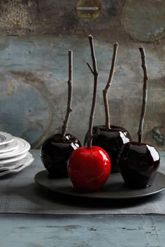 Decadently Dark Candy Apples  - CountryLiving.com