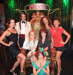 'VÉRONIC Voices' stopped by Caesars Palace Tuesday, August to enjoy 'Absinthe.' In the attached photo, Véronic and the Voicettes pose with Absinthe host The Caesars Palace, The Voice, Las Vegas, Poses, Celebrities, Tuesday, Figure Poses, Last Vegas, Celebs