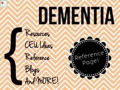 Speechy Musings: Dementia Resources. Pinned by SOS Inc. Resources. Follow all our boards at pinterest.com/sostherapy for therapy resources.